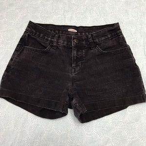 Old navy faded black jean shorts sz 0